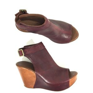 Kork-Ease Berit Leather Wedge Platform Sandal